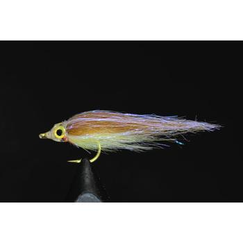 цена на Tigofly 12 pcs Brown Olive UV Polar Fry Slowly Sinking Salmon Trout Steelhead Minnow Fly Fishing Flies Lures Fly Set-Size #8