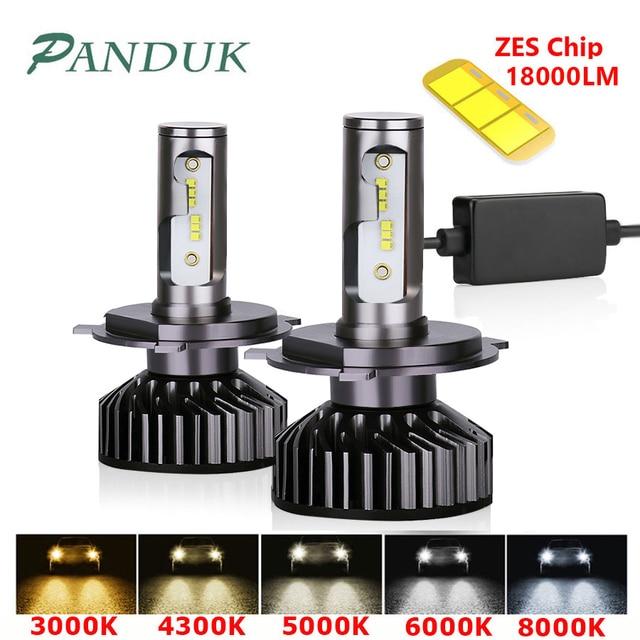 PANDUK H7 LED H4 ZES 18000LM في Canbus H11 H8 H1 HB3 9005 9006 LED HB3 LED مصباح أضاءه أمامي Led أضواء ل سيارة 80W 6000K 8000K 12V