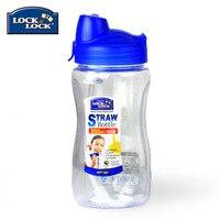 350ml Water Bottles With Straw Plastic Bottle Juice Outdoor Travel Children Kids Students School Drinking Portable Botella 30s28