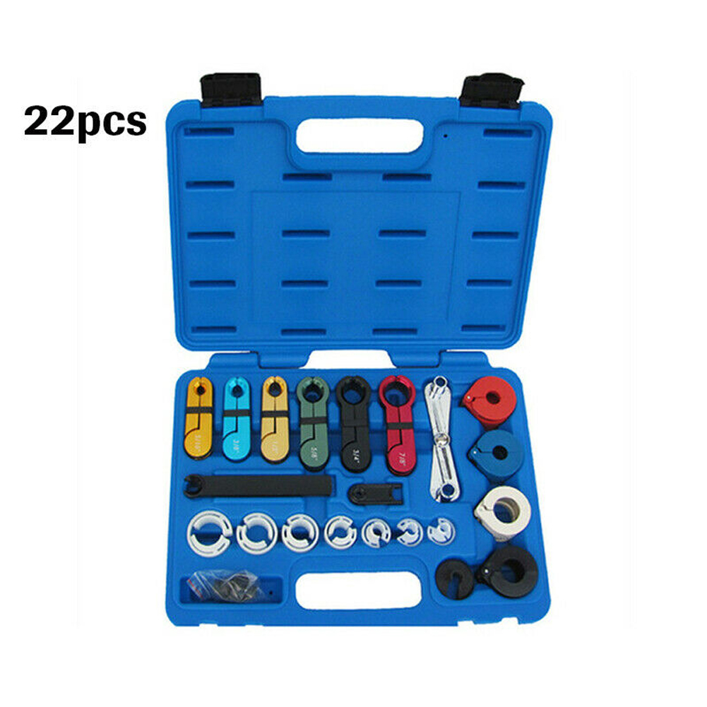 22pcs With Case A/C Fuel Transmission Air Condition Quick Disconnect Tool Set Durable Universal Professional Car Line Coupling