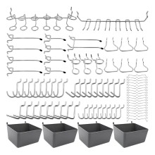 80 Piece Pegboard Hooks Assortment with Pegboard Bins, Peg Locks, for Organizing Various Tools for Kitchen Craft Room(China)