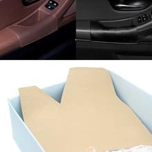 تصفيف السيارة الداخلية اليسار القيادة الجانب جلد البقر الباب مسند الذراع مقبض السلطانية سحب غطاء للحماية لسيارات BMW X5 E70 2007   2013