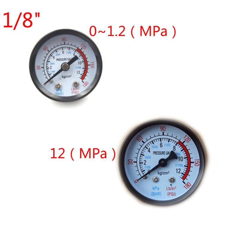 Bar Air Pressure Gauge 9mm/10mm 1/8