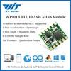 WitMotion WT901B 10 ציר AHRS IMU חיישן תאוצה + גירוסקופ + זווית + מגנטומטר + ברומטר MPU9250 על PC/אנדרואיד/MCU