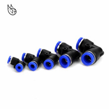 цена на 1pcs PV4 6 8 10 12MM Pneumatic L Type Elbow Fitting Plastic Pipe Connector Quick Fitting Angle Adapter Plug