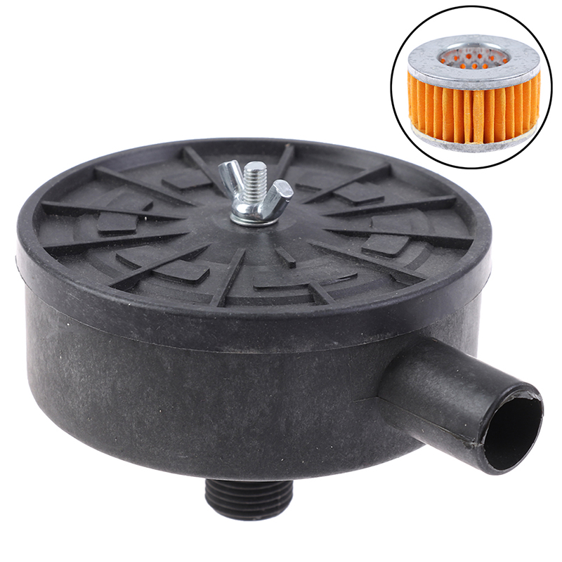 1Pc Air Filter Silencer Black Air Compressor 20mm Male Thread Plastic Housing Canister Filter Silencer