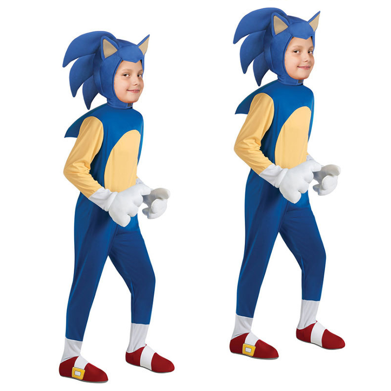 Fancy Halloween Costume For Kids Anime Cartoon Cosplay The Hedgehog Costumes Boy Christmas Jumpsuit Performance Suit
