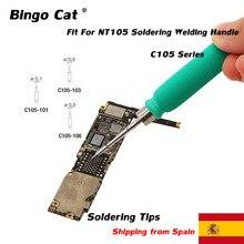 Original JBC C105-101 C105-103 C105-106 Löten Tipps Für NT105 Löten Schweißen Griff Handy Motherboard Reparatur Werkzeug