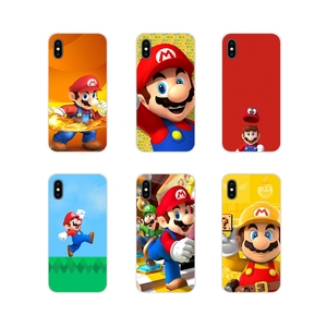 Accessories Phone Cases Covers For Apple iPhone X XR XS 11Pro MAX 4S 5S 5C SE 6S 7 8 Plus ipod touch 5 6 Funny Super Marios Bros(China)