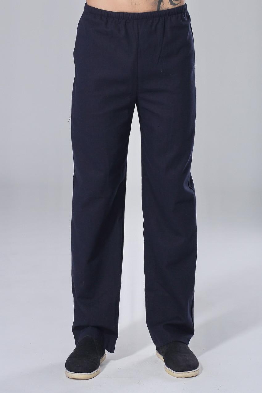 Chinese Costume Pants P0015-b Men's Cotton Linen Tai Chi Pants