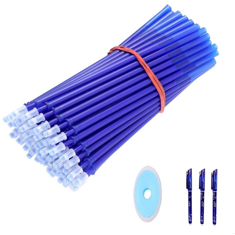 Офисная гелевая ручка стержень со стираемыми чернилами стержень ручки со стираемыми чернилами моющиеся ручка 0,5 мм цвета синий, черный, зеленый, чернила школы канцелярские принадлежности