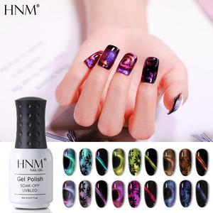 HNM 8ml 9D Chameleon Cat Eyes Gel Nail Polish Black Base Needed Soak Off Magnetic UV LED Lamp Manicure Varnish Gellak Lacquer(China)