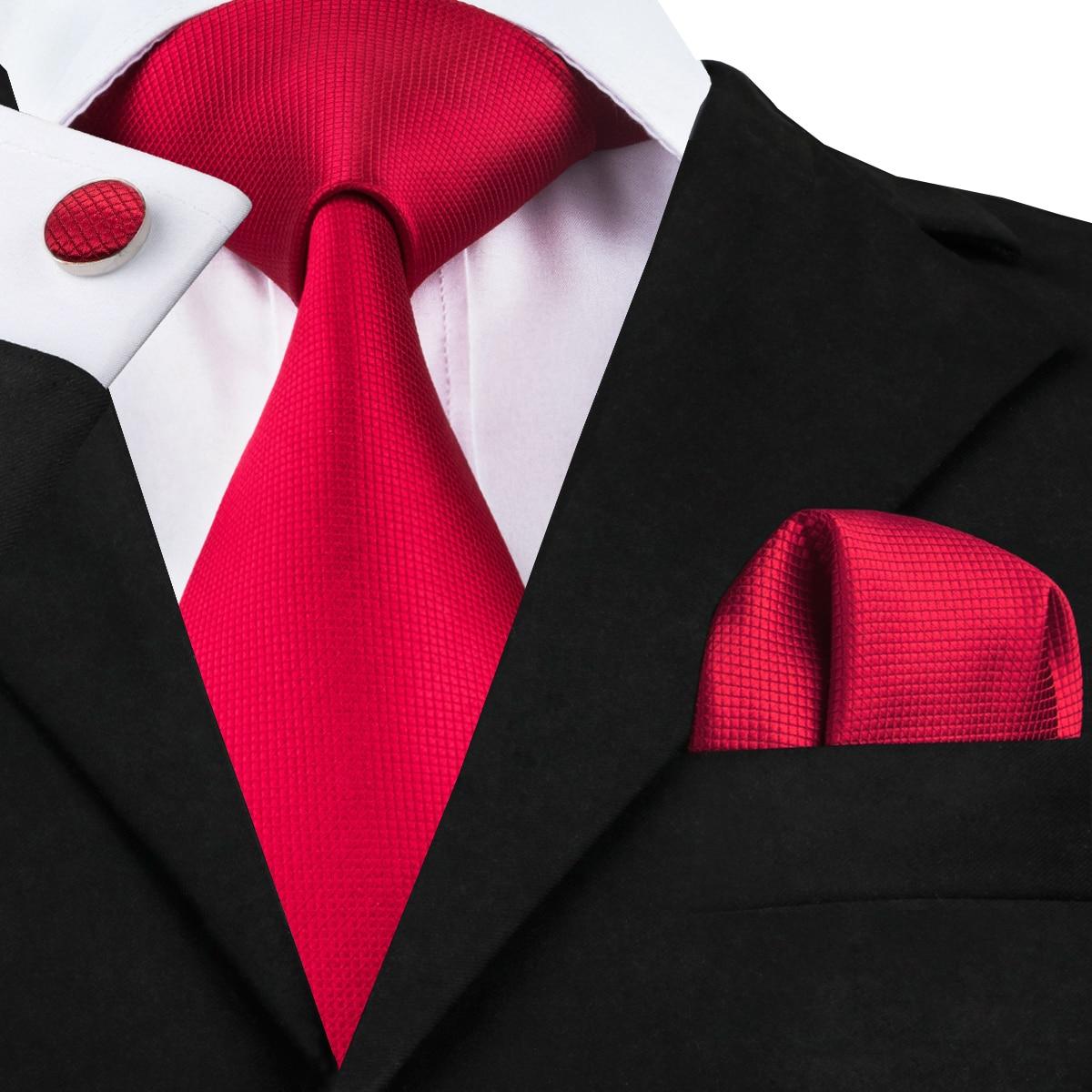 C-206 Hi-Tie Ties For Men Floral Pattern Tie Hanky Cufflinks Pocket Square 100% Silk 8.5cm Orange Green Purple