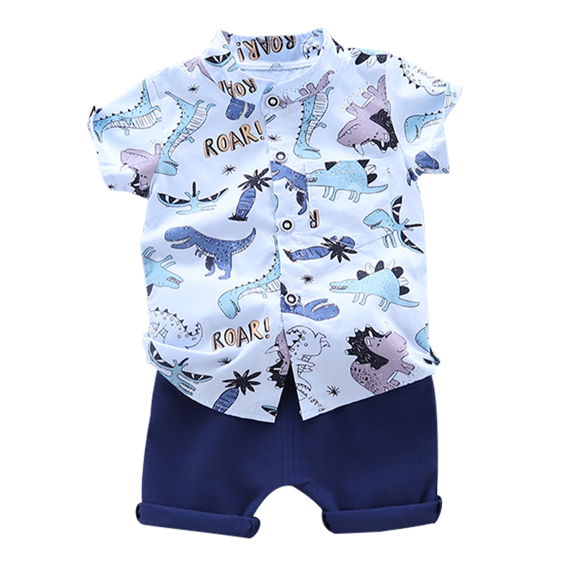 Toddler Baby Boy Clothing Set Cute Summer T-Shirt Cartoon Dinosaur Children Boys Clothes Shorts Suit for Kids Outfit