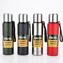 500/750/1000/1500ml Russische Thermos Draagbare Grote Capaciteit Geïsoleerde Beker Militaire Stijl Koffie Thee Vacuüm fles thermos