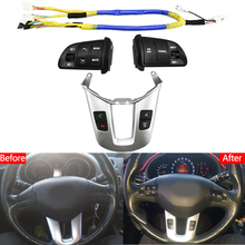 Steering wheel button For KIA Sportager Steering wheel Audio channel and Constant speed cruise control button volume switch