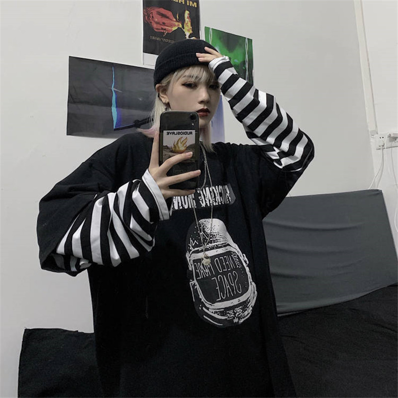 Gothic New Harajuku Women Hoodies Print Sweatshirts Fashion Tops Pullovers Punk Womens Funny Ladies Korean Streetwear Girls