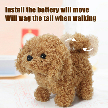 Realistic Teddy Simulation Dog Smart Called Walking Electric Plush Toy Teddy Robot Dog Child Toy Puppy Plush For Christmas Gift lnteractive smart robot dog child toy smart light dancing robot dog toy electronic pet child birthday gift toys for children
