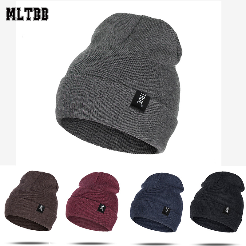 Winter Hat Beanies Knit-Hat Skullies Ladies Warm Female Cotton Blend Solid Soft Hot-Sell