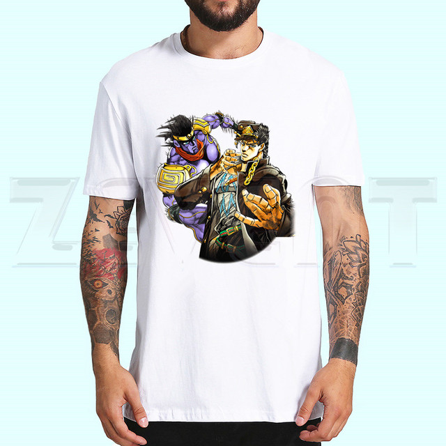 DIO BRANDO JoJo Bizzare Adventure T Shirts Short Sleeves T-shirt Fashion JoJo Bizarre Adventure Kujo Jotaro Tops Tees T-shirt 2