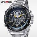 WEIDE Новая Мода Мужские Часы Топ Luxury Brand Полная Сталь Спорт Военная ЖК-Аналоговые Часы С Цифровым Дисплеем Причинно Часы
