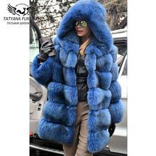 Роскошные шубы из натурального Лисьего меха для женщин пальто