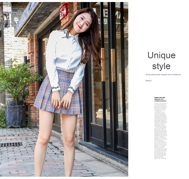 Harajuku Short Skirt New Korean Plaid Skirts Women Zipper High Waist School Girl Pleated Plaid Skirt Sexy Mini Skirt Plus Size 18