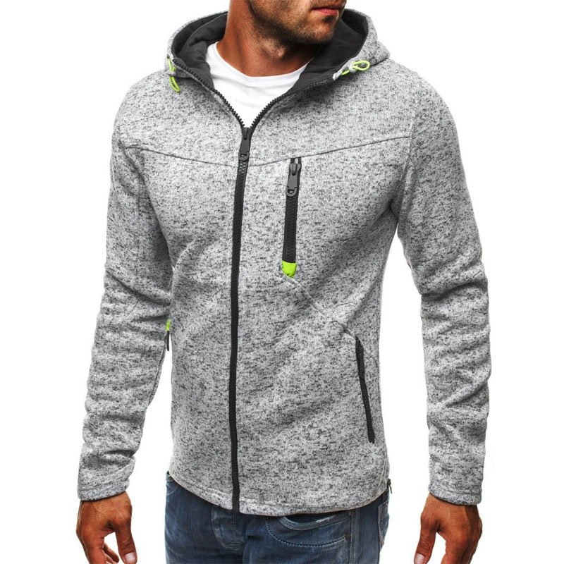 NEW Thermal Zipper Running Jacket Spring Autumn Mens Hoodies Sweatershirt Sports Clothes Male Workout Streetwear 4XL