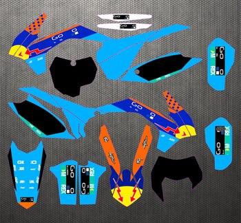 Kit de pegatinas gráficas personalizadas SXF 13-15 EXC 14-16, calcomanía para KTM...