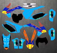 SXF 13-15 EXC-14-16 personalizado gratis gráficos Kit de etiqueta para KTM 125, 250, 300, 400, 450 SX SX-F 2013-2015 EXC-F 2014-2016