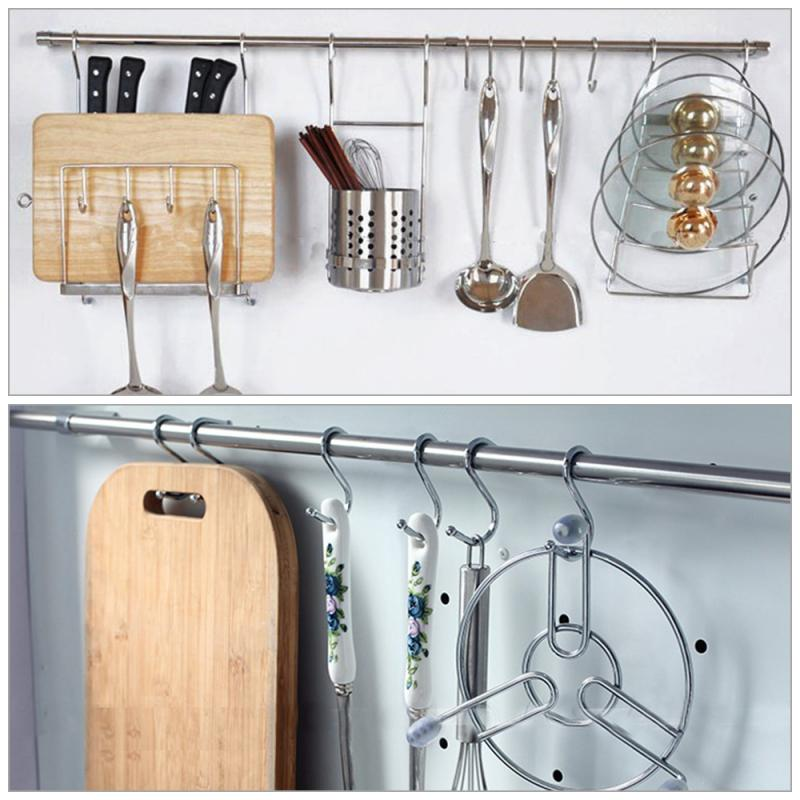 Multiple Types Home Practical S-type Cabinet Wardrobe Stainless Steel Clothing Sundries Hook
