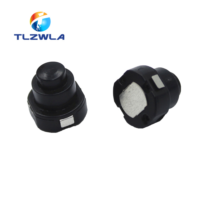 10Pcs 1010X Small Circular Flashlight Switch Power Supply Button Switch KAN-10A Self-locking Button Push Button Switch ON-OFF