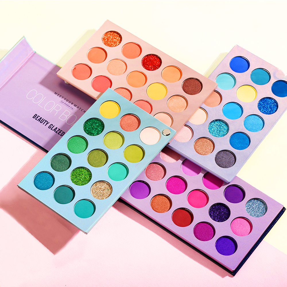 Beauty Glazed 60 Colors Eyeshadow Palette Glitter Highlighter Shimmer Eye Shadows High Quality Professional Make up