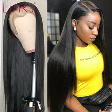 Links laço frontal peruca reta remy brasileiro 28 30 40 Polegada cabelo humano peruca dianteira do laço 4x4 perucas de fechamento do laço para preto