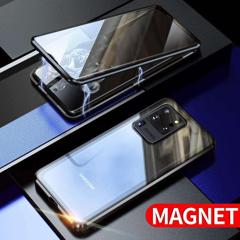 Magnetic Metal Glass S20 Plus Case For Samsung S20 Ultra Case Two Side Glass S20 Cover S20+ Coque For Galaxy S20 Plus Funda Case