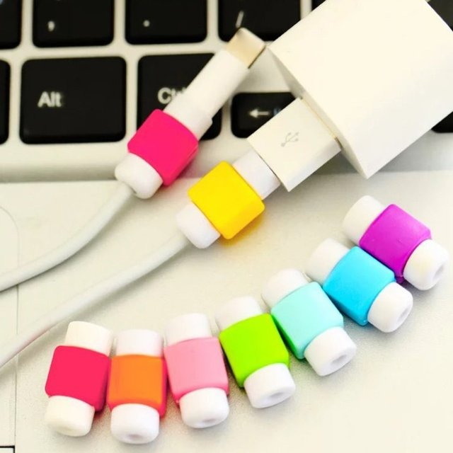 Data Cable Protection Cable Sleeve Charging Cable Protection Sleeve I Cable Sleeve Soft Silicone Cylindrical Easy to Fix 5