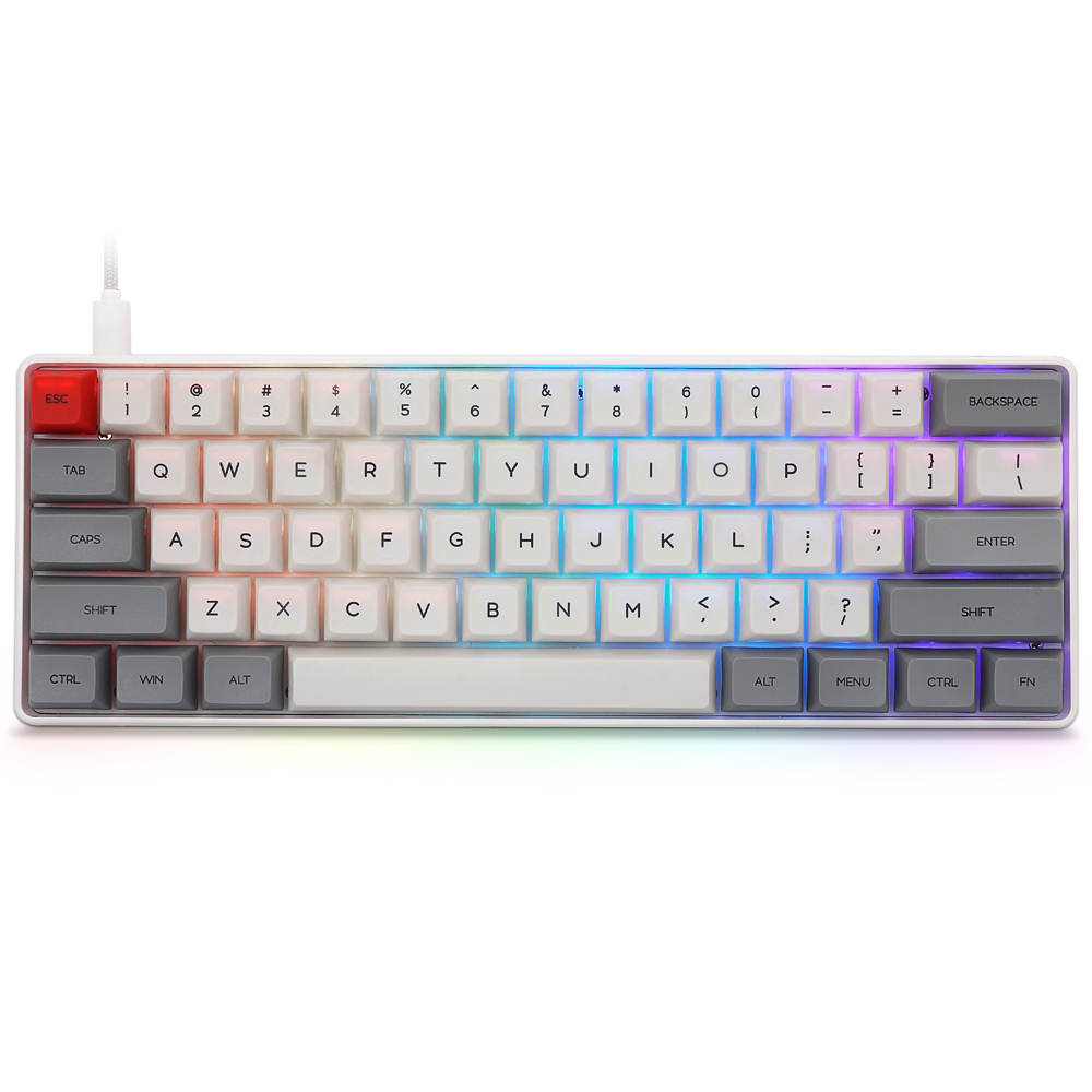 Geek Customized SK61 Gateron Switch 60% 61Keys NKRO Gateron Optical Type-C Wired RGB Backlight Mechanical Gaming Keyboard For PC