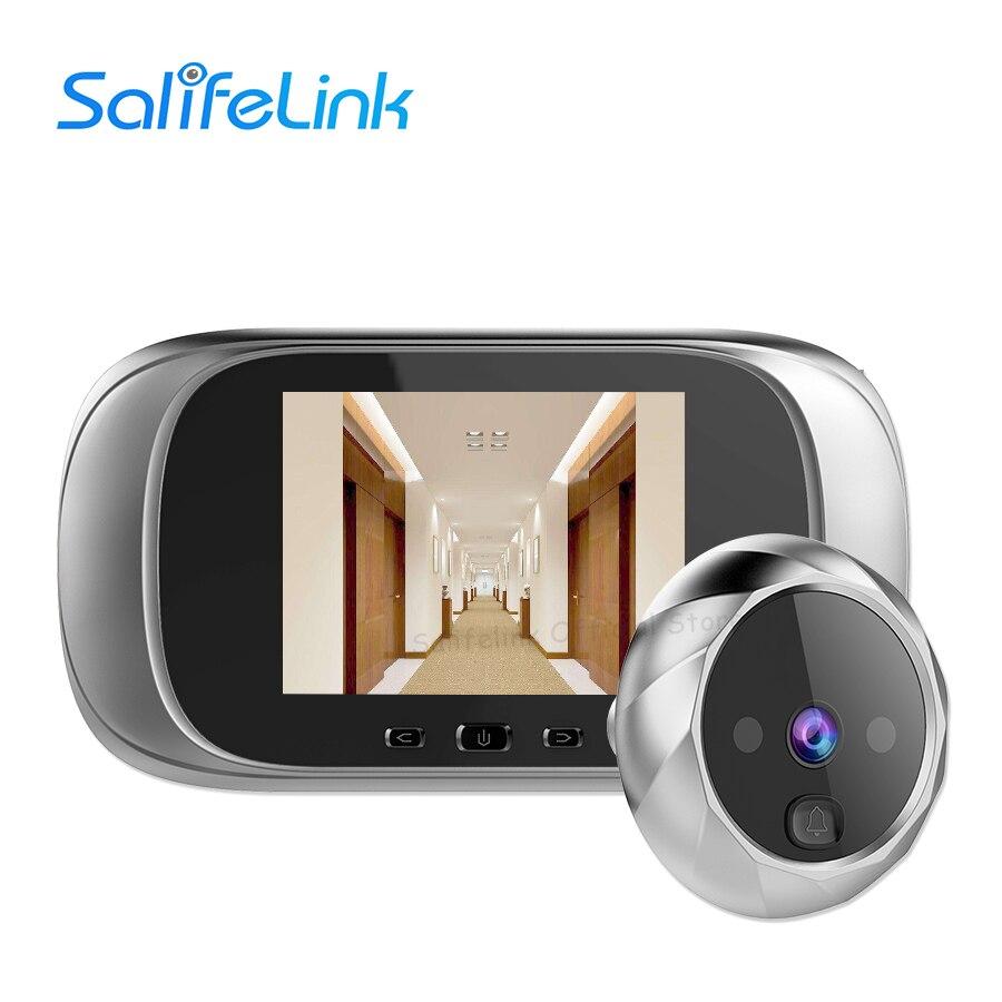 "2.8/"" LCD Monitor Digital Door Peephole Viewer Camera Cam Batteries Doorbell A+"