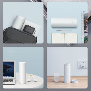 Image 5 - Xiaomi 400 ミリリットルミニ電気ケトル魔法瓶カップポータブルボトル加熱熱のための茶コーヒーミルクドリンク