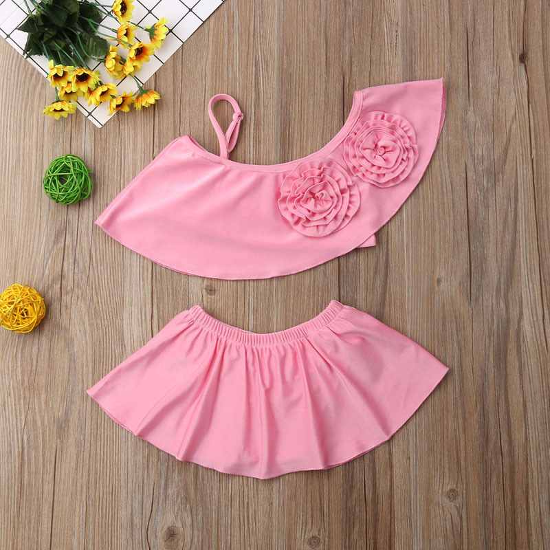 New Style Kid's Swimwear Swimwear Hot Selling Europe And America Girls' Shirt Swimsuit