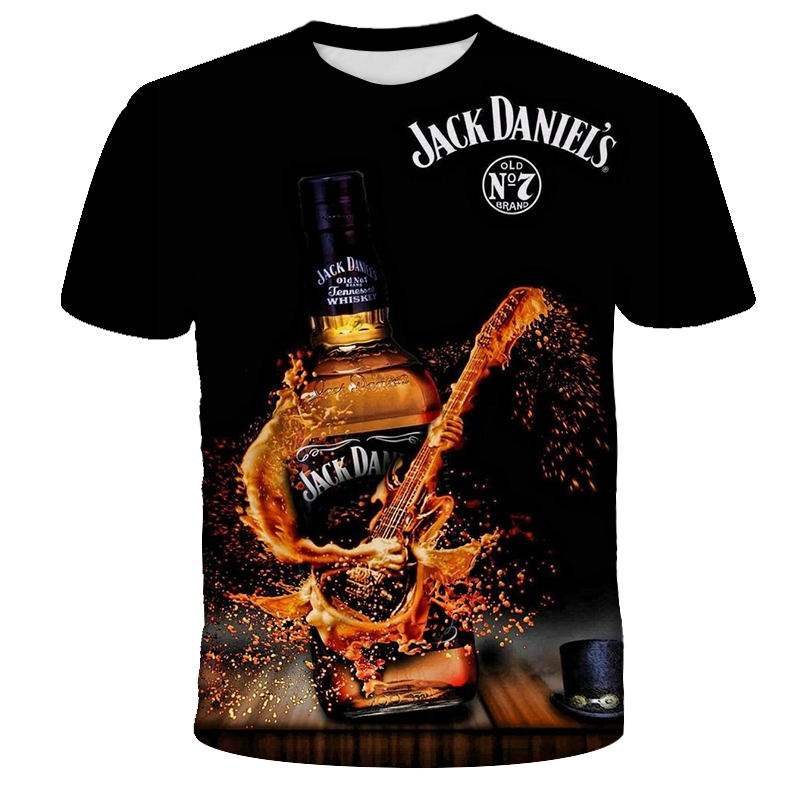 2021 Summer Men's 3D T-shirt Beer Time Short Sleeve O-neck Fashionable and Fun 3D Printed T-shirt Casual Men's Top T-shirt Stree