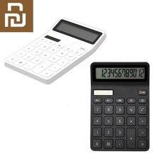 Lemo calculadora mini desktop eletrônico portátil calculadora 12 display lcd digital desligamento automático para o escritório
