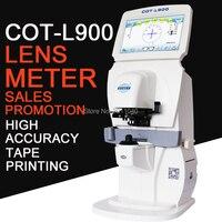 """COT L900 אוטומטי lensmeter דיגיטלי lensometer האופטי ccq 200 אוטומטי עדשת מטר 7 אינץ מגע מסך UV פ""""ד הדפסה-בפוסימטרים מתוך כלים באתר"""