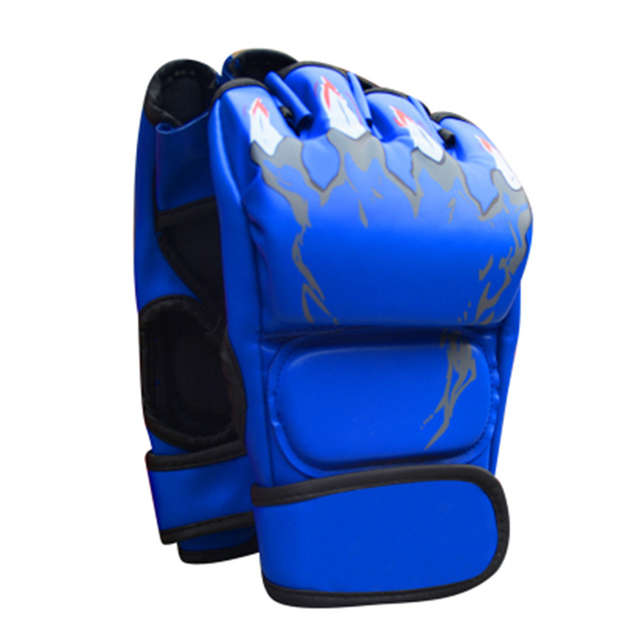 Adult MMA Boxing Sandbag Fight Combat Training Faux Leather Half Finger Gloves Tools for Muay Thai Karate Muay Free Fight Sanda 4