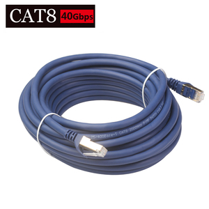 Cat8 Ethernet Cable Gold-plated RJ45 to 8P8C 25/40 Gbps Network Cable Lan for Router Laptop 1m/2m/5m/8m/10m/15m/20m/30m(China)