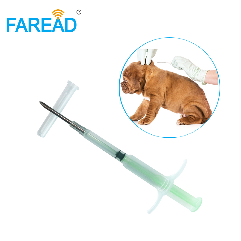 X100pcs RFID FDX-B ISO11784/5 Chip 2.12x12mm 134.2KHz Low Frequency Cat Dog Implantable Microchip With Safe Disposable Syringe