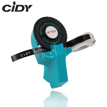 Błękitny kolor MoTex E101 drukarka Mini DIY ręcznie kompatybilny dla dymo 3D tłoczenie instrukcja taśma ręczna maszyna do pisania maszyna do pisania tanie i dobre opinie cidy 110*90 Inny rodzaj Wstążki drukarki Label Printer