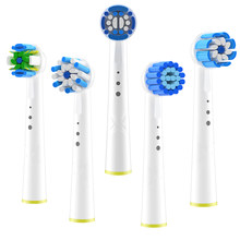 4pcs Replacement Brush Heads For Braun Oral-B Electric Toothbrush Cross-Activity Toothbrush Heads For Oral-B Oral Cleaning Tools
