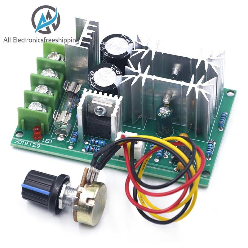 DC10 60V DC 10 60V Motor Speed Control PWM Motor Speed Controller Switch 20A Current Voltage regulator High Power Drive Module|Motor Driver|   - AliExpress