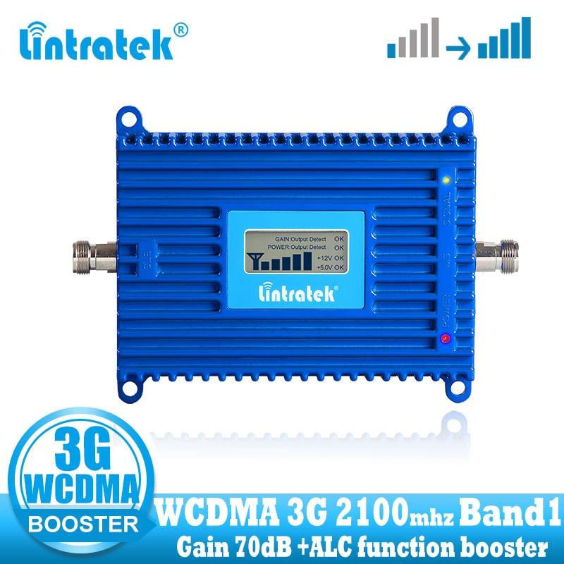 Lintratek ganho 70db 2100 (banda lte 1) umts impulsionador de sinal móvel 3g (hspa) wcdma 2100 mhz sinal amplificador repetidor celular